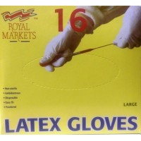 Latex Gloves Large RM, pack of 16