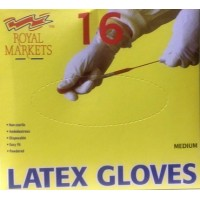 Latex Gloves Medium RM, pack of 16