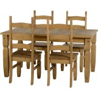 Corona Pine 5ft Dining Table with 4 Chairs