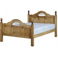 Corona Pine Scroll Double Bed 4ft 6in