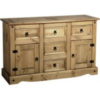 Corona Pine Sideboard  2 Door 5 Drawer
