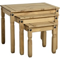Corona Pine Occassional Tables Nest