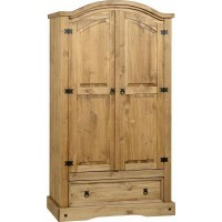 Corona Pine Wardrobe 2 Door 1 Drawer